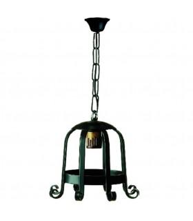 Lanterne forge médiévale avec 1 lumière. (65x26 cms.)