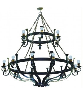 lampe de roue forgeage, 6 lumières