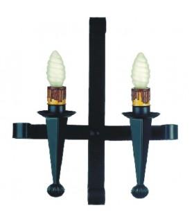Appliquer bougie forgeage, 2 lumières