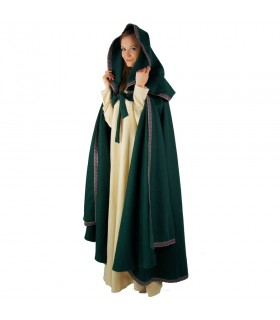 médiéval rouge cape femme à capuche