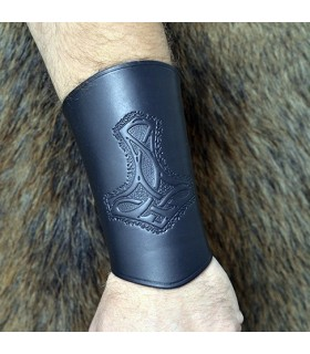 bracelet en cuir de marteau de Thor