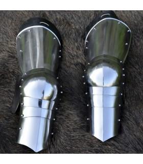 médiévales jambes de protection blindée