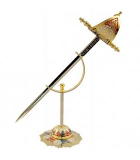 Set 6 mini-espadas históricas con soporte