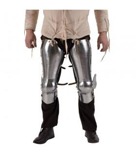 armure médiévale pour les jambes et les genoux