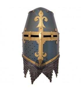Cruzados casque avec visière spangenhelm