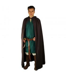 Médiéval long manteau noir