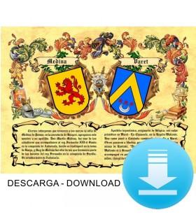Pergamino Virtual escudo de armas 2 apellidos