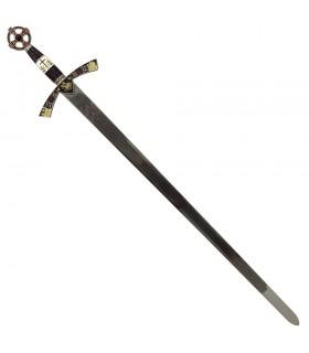 Des templiers à l'épée décorée