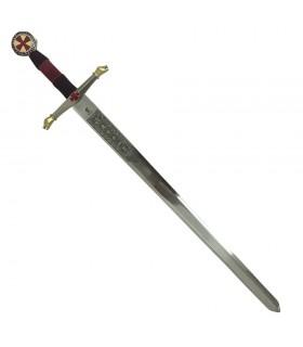 épée décorée des Templiers