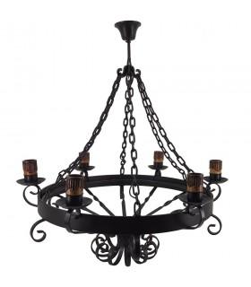 Lampe de forger des chaînes, 6 ampoules