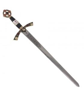 Des templiers à l'épée cadets de l'or. 76 cms.