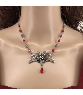 Pendentif avec perles de cristal