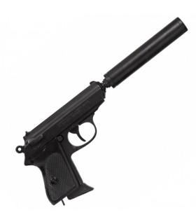 pistolet semi-automatique avec silencieux