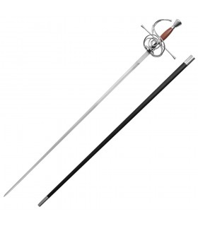 Rapier épée fonctionnelle, manche en bois