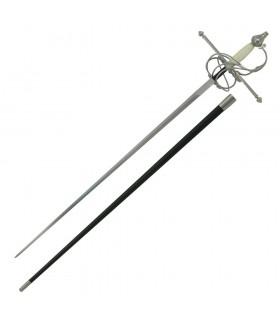 épée rapière, os poing