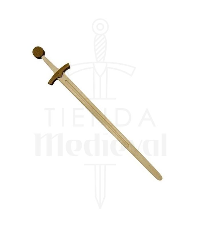 Espada medieval madera 1 mano prácticas