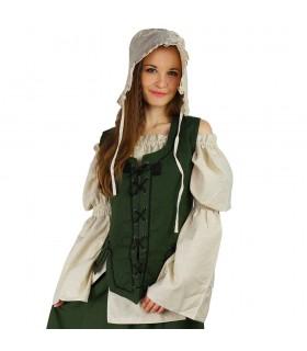 Gilet de femme noire médiévale