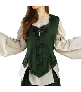 Gilet femme verte médiévale