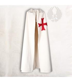 Capa medieval con cruz ancorada roja
