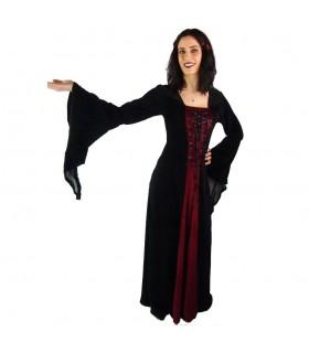 Vestido Gótico negro-granate