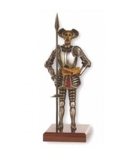 Miniatura Don Quijote con lanza y libro, 42 cms.