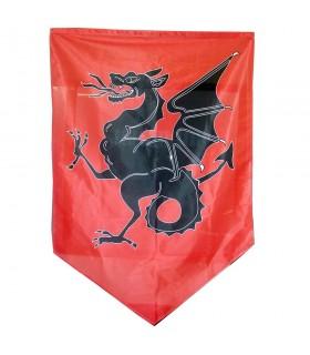 Standard du dragon médiéval (150x100 cm)