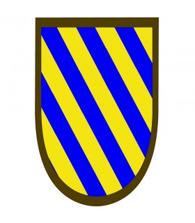 Bannière médiévale rayures bleu-jaune