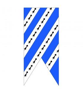 Bannière bleu ciel médiéval