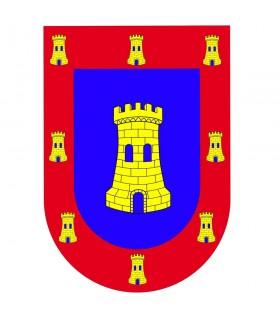 Armes de château médiéval bouclier