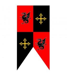 Caserne médiévale dragons et croix