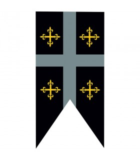 Croix de templier standard de caserne médiévale