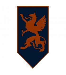 Bannière médiévale de dragon rampant