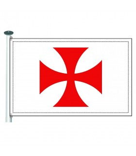 Bandera templaria Cruz Paté