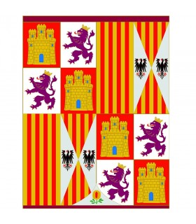 Estandarte Escudo de Armas Reyes Católicos