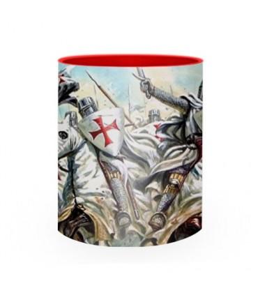 Tasse en céramique combattant les Templiers