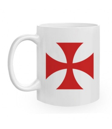 Tasse en céramique Templar Cross