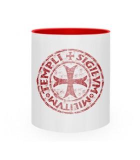 Taza de Cerámica Cruz-Sello Templarios