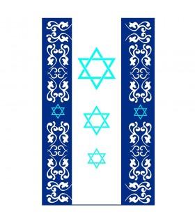 Estandarte Judío 3 Estrellas de David