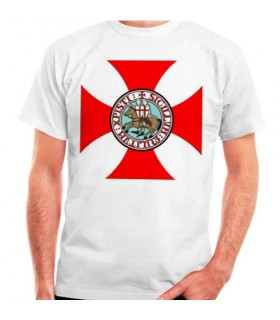 T-shirt en croix avec des Templiers