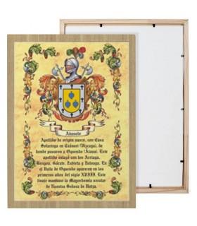 Boîte de boucliers héraldique 1 nom de famille (30x40 cms.)