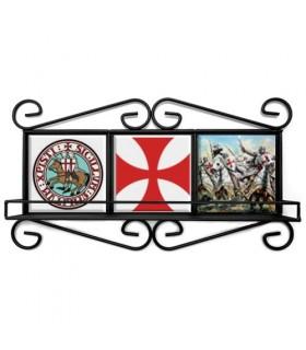 Marco rústico de los Templarios en forja