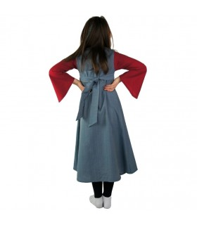 Robe médiévale bicolore pour les filles