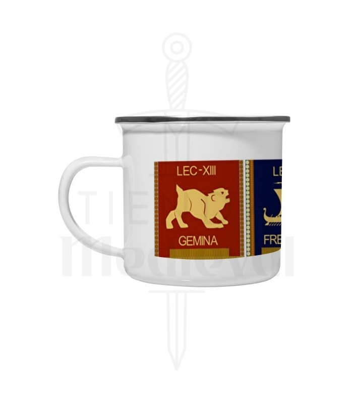 Coupe en laiton émaillé Vintage 4 Légions Romaines