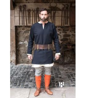 Tunique Médiévale Erik noir à manches longues