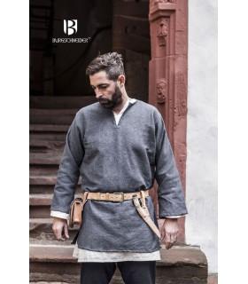 Tunique Médiévale Erik gris à manches longues
