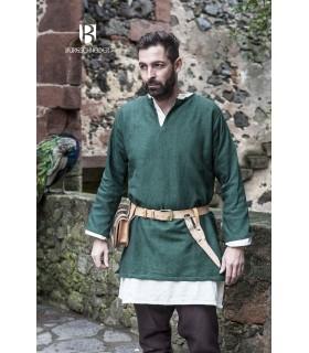 Tunique Médiévale Erik vert à manches longues