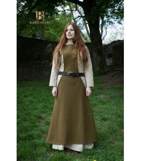 Tunique Médiévale Femme Albrun Laine Vert