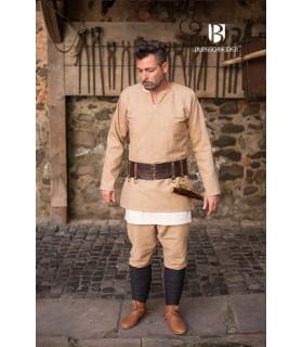 Tunique Médiévale Erik crème à manches longues