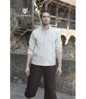 Chemise médiévale liens, Tristan, crème