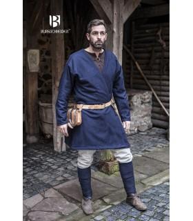 Tunique Médiévale Loki bleu manches longues